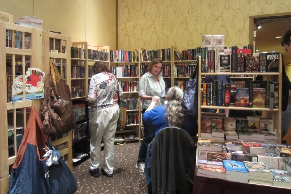 bookstall in Dealers Room at FOGcon 2014