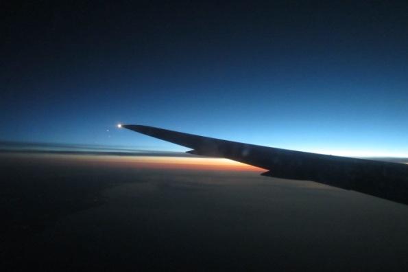 approaching Detroit at dawn