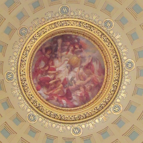 painting on ceiling of madison capitol rotunda