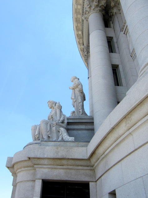 statue above observation deck - madison capitol