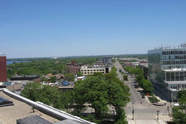view from observation deck - madison capitol