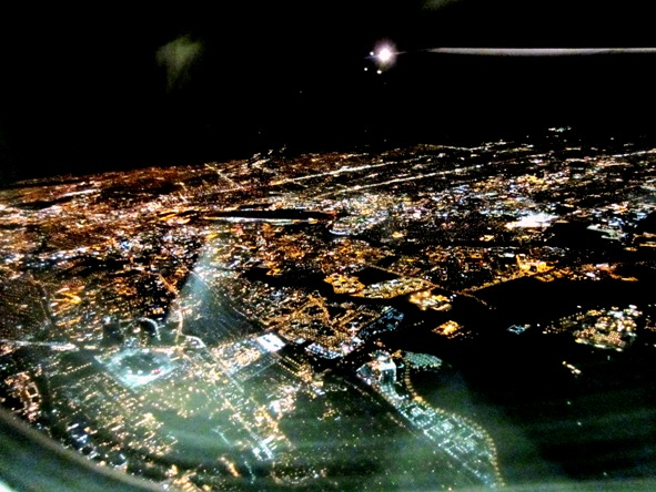 jewel box of lights - landing at SFO
