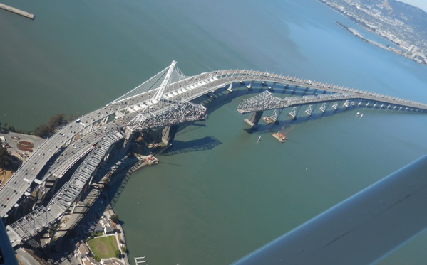 New Bay Bridge and Old