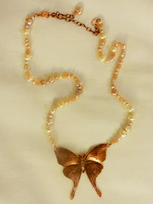 luna moth necklace Janet Kofoed