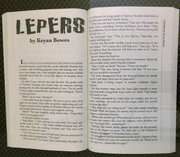 BigPulp 2016 anthology open at Lepers by Keyan Bowes