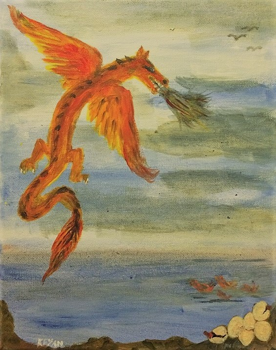 Red gold dragon - Copyright 2019